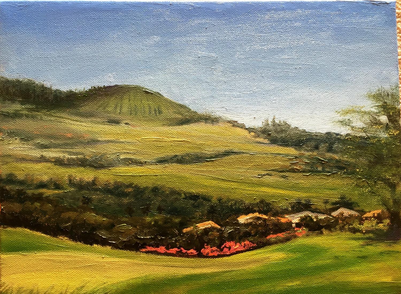 Haleakala slopes from Wailea 9x12
