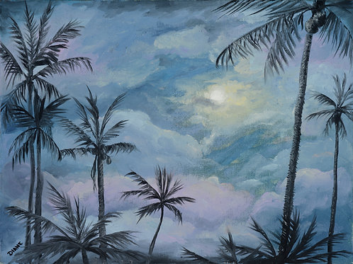 Moonlight Over Wailea Beach