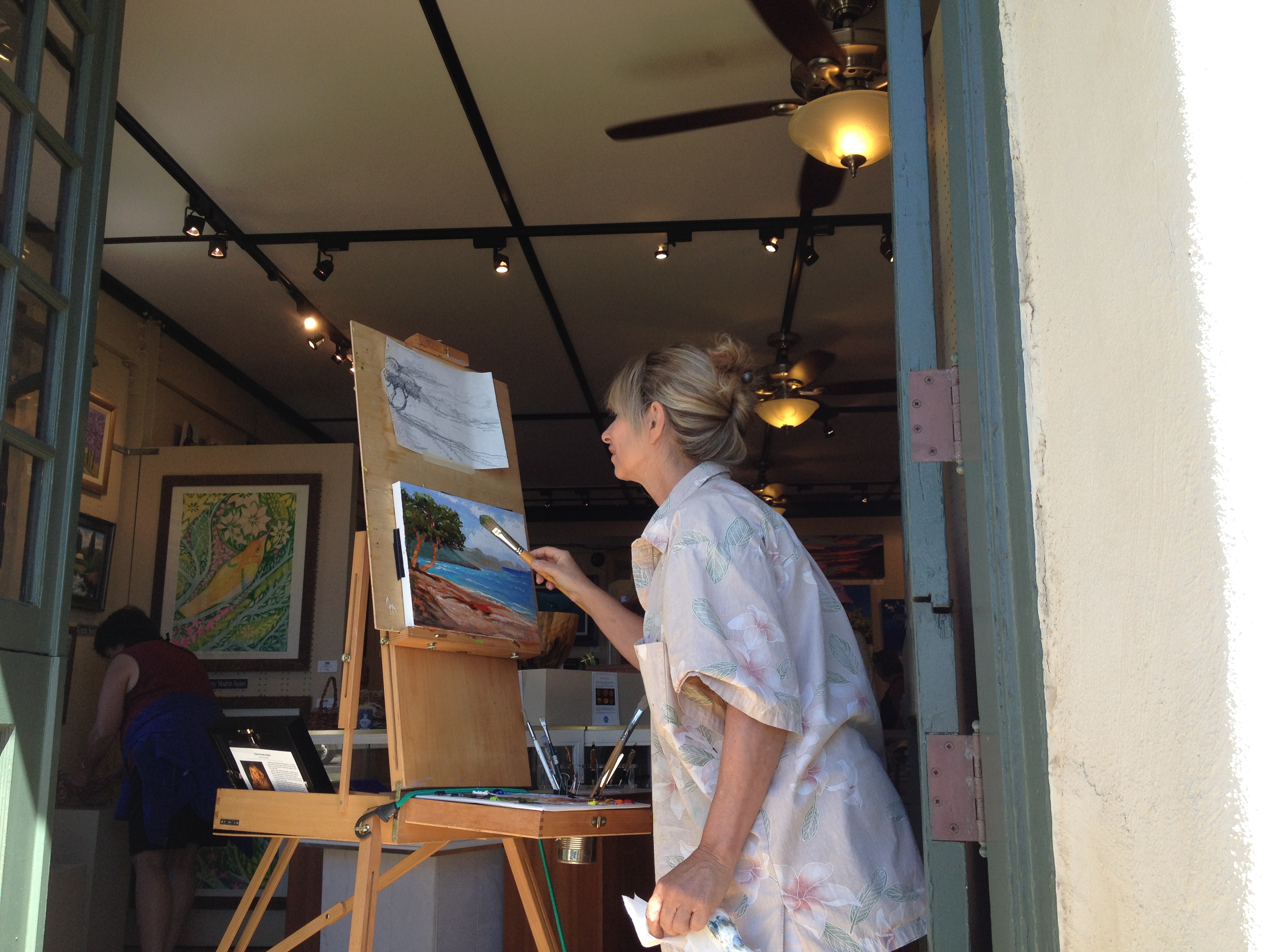 Artist Demo in Banyan Tree Gallery