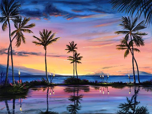 Humu Humu Sunset- Wailea Beach
