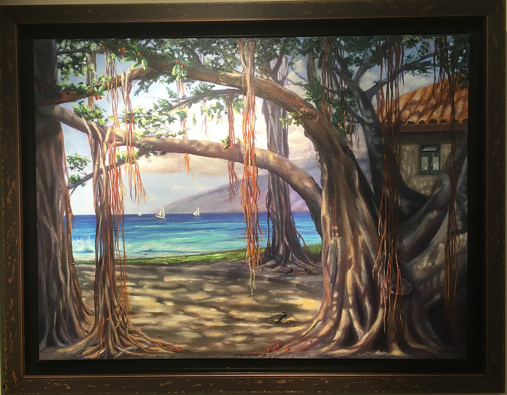 """""""Heart of Lahaina"""" painted by Diane Snoey Appler , Peoples Choice winner in the 2019 Lahaina Poster Contest"""