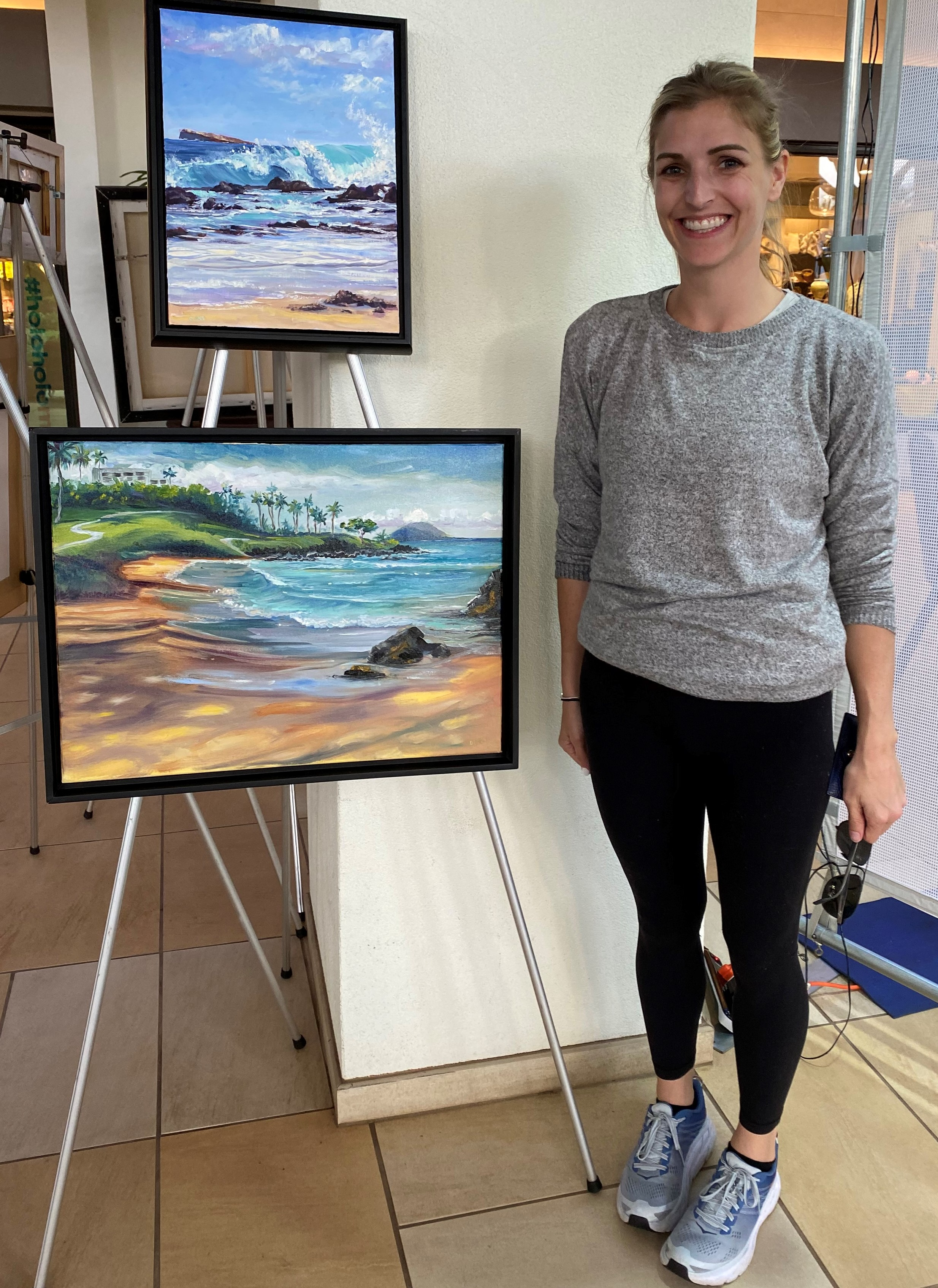 Katie Flora with 'Morning Waves- Ulua Be