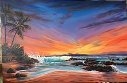 Secluded Sunset-Secret Beach 24x36