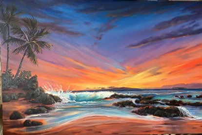 Secluded Sunset- Secret Beach - Makena Maui