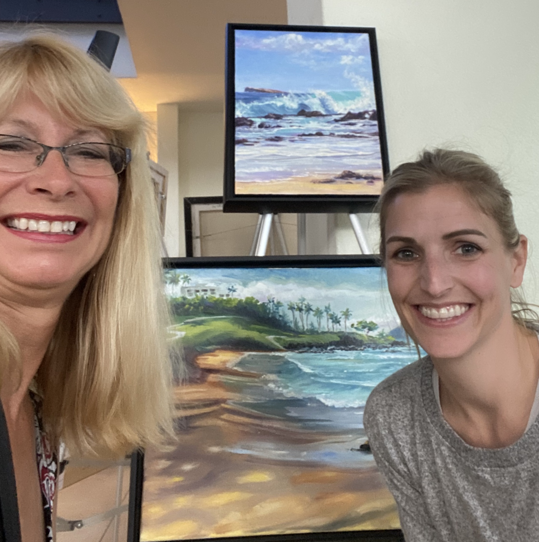 Artist Diane on Left and Katie on Rt wit