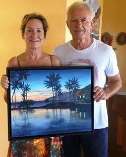 Anji and Kris + Lagoon at Sunset