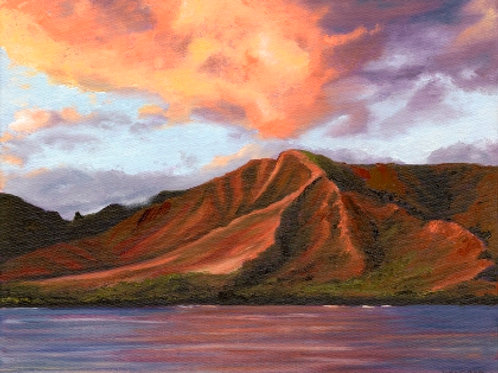 """4th of July Sky over West Maui"" Original Oil Painting"