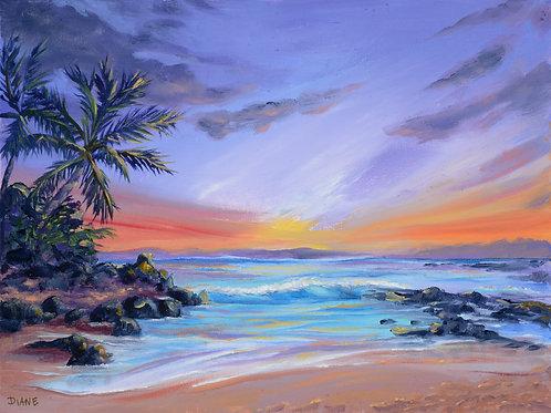 Magic Hour- Secret Beach Sunset- Makena Maui