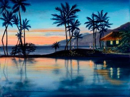 """""""Lagoon at Sunset- Wailea"""""""