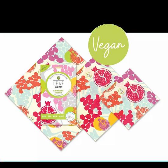 vegan wax wraps pack of three pomegranate design