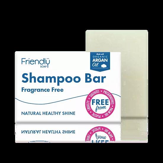 fragrance-free solid shampoo bar in cardboard packaging