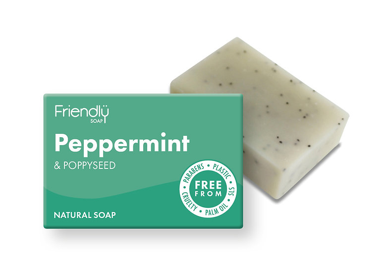 Peppermint and Poppyseed Soap
