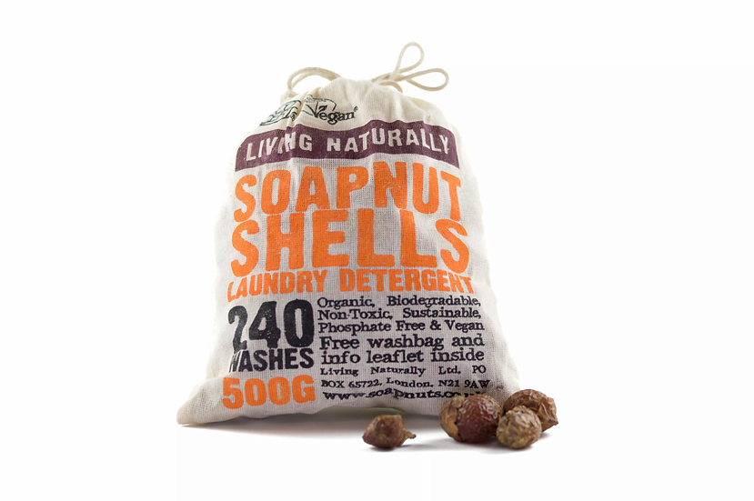 soapnut shells bag of eco-friendly laundry detergent
