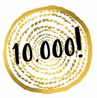 badge celebrating 10,000 orders!