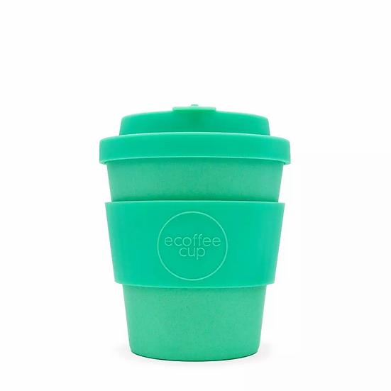 8oz aqua reusable bamboo coffee cup