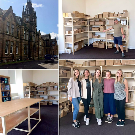 collage of photos showing ABP's new hand built office in Bellahouston business centre