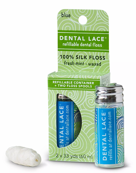 Dental Lace in blue container