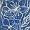 blue flower lino print design