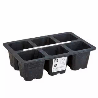 natural rubber reusable seed tray 6 pots