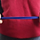 person stretching the natural rubber fitness band