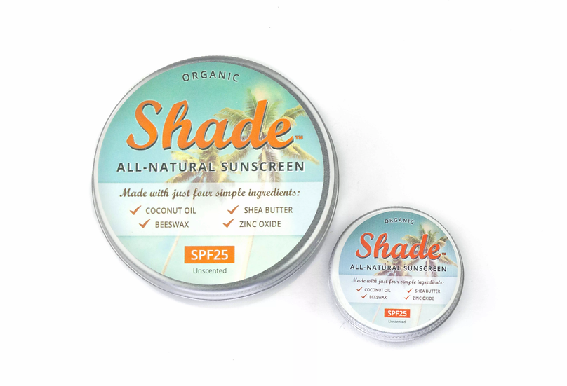 Shade all natural sunscreen in a tin