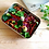 slimline reusable metal lunch box containing salad