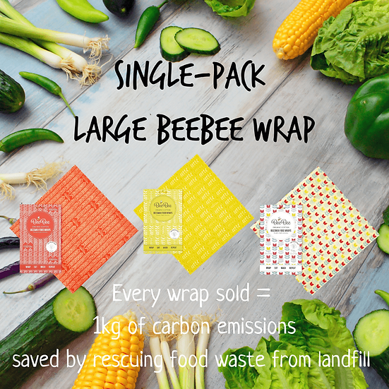 buy a For every beeswax wrap sold, we divert 1kg of food waste from landfill