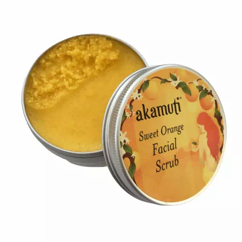 sweet orange natural facial scrub