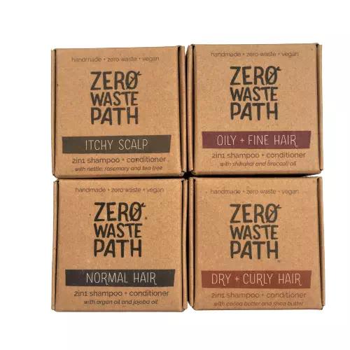 zero waste path shampoo bars