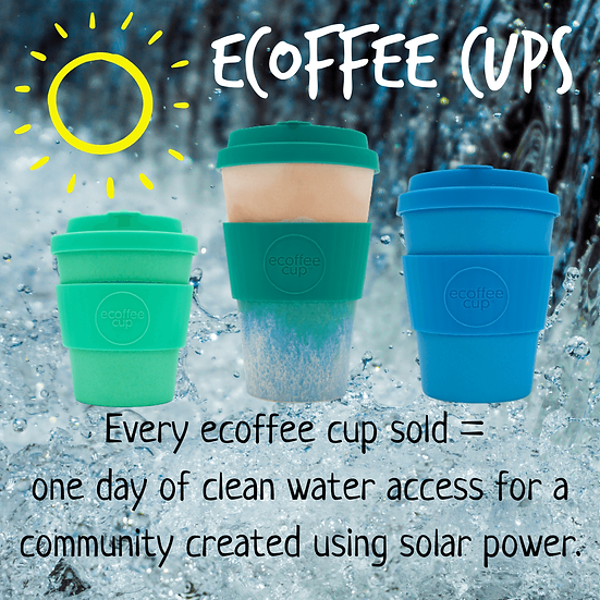 for every reusable ecoffee cup sold, we provide a day's worth of clean water for a community