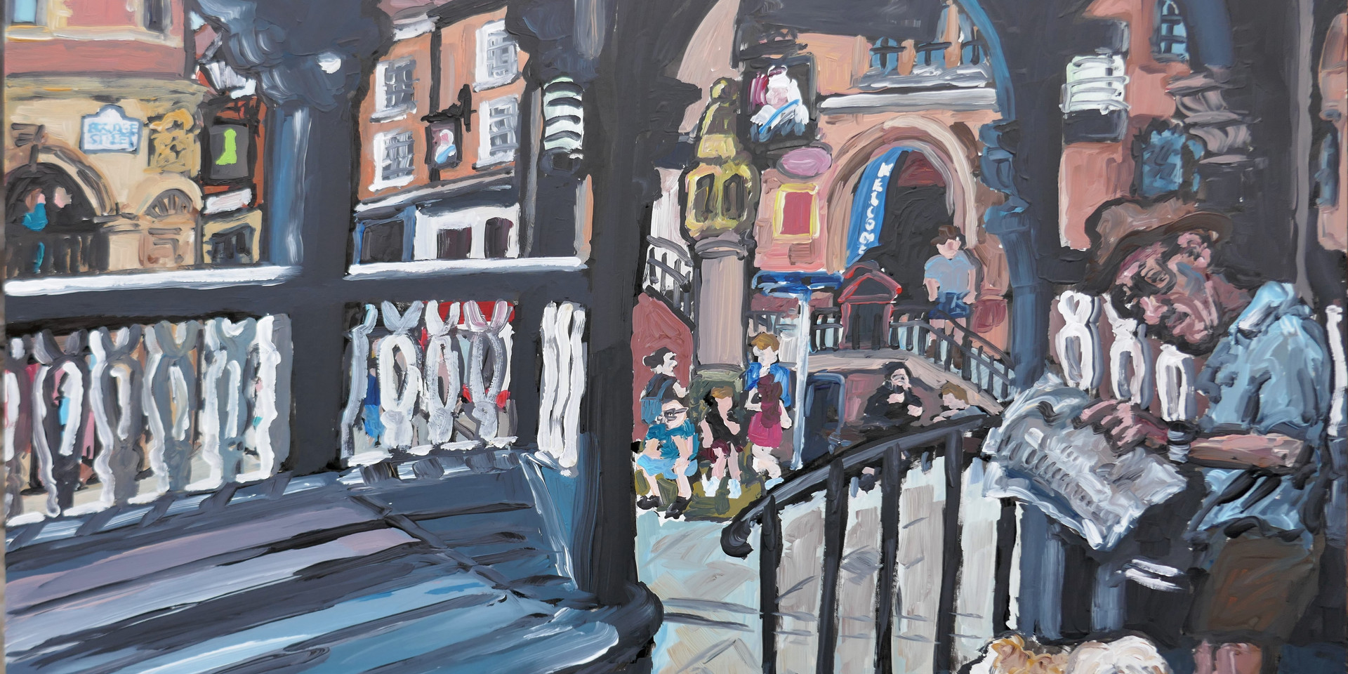 Bridge Street Pete 12 x 16 inch