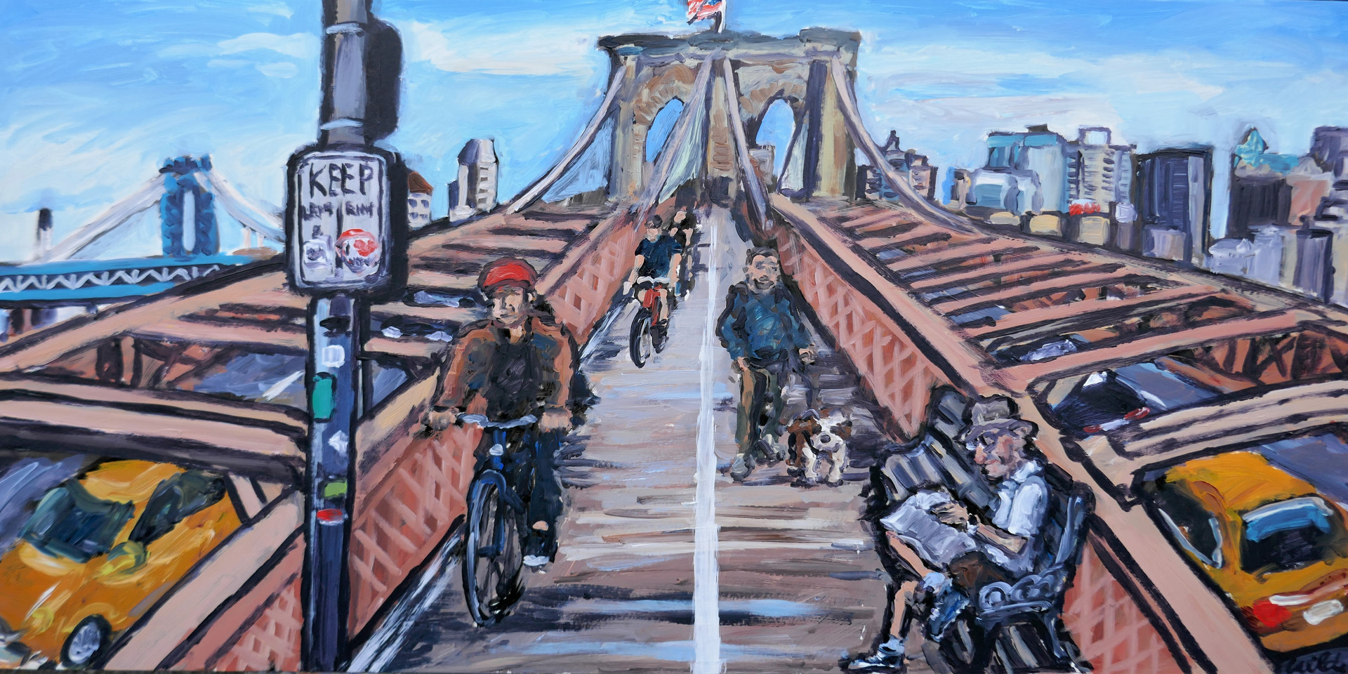 Brooklyn Bridge 10 x 20 inch.