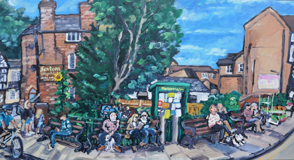 Lymm in a round a bout way 12 x 24 inch