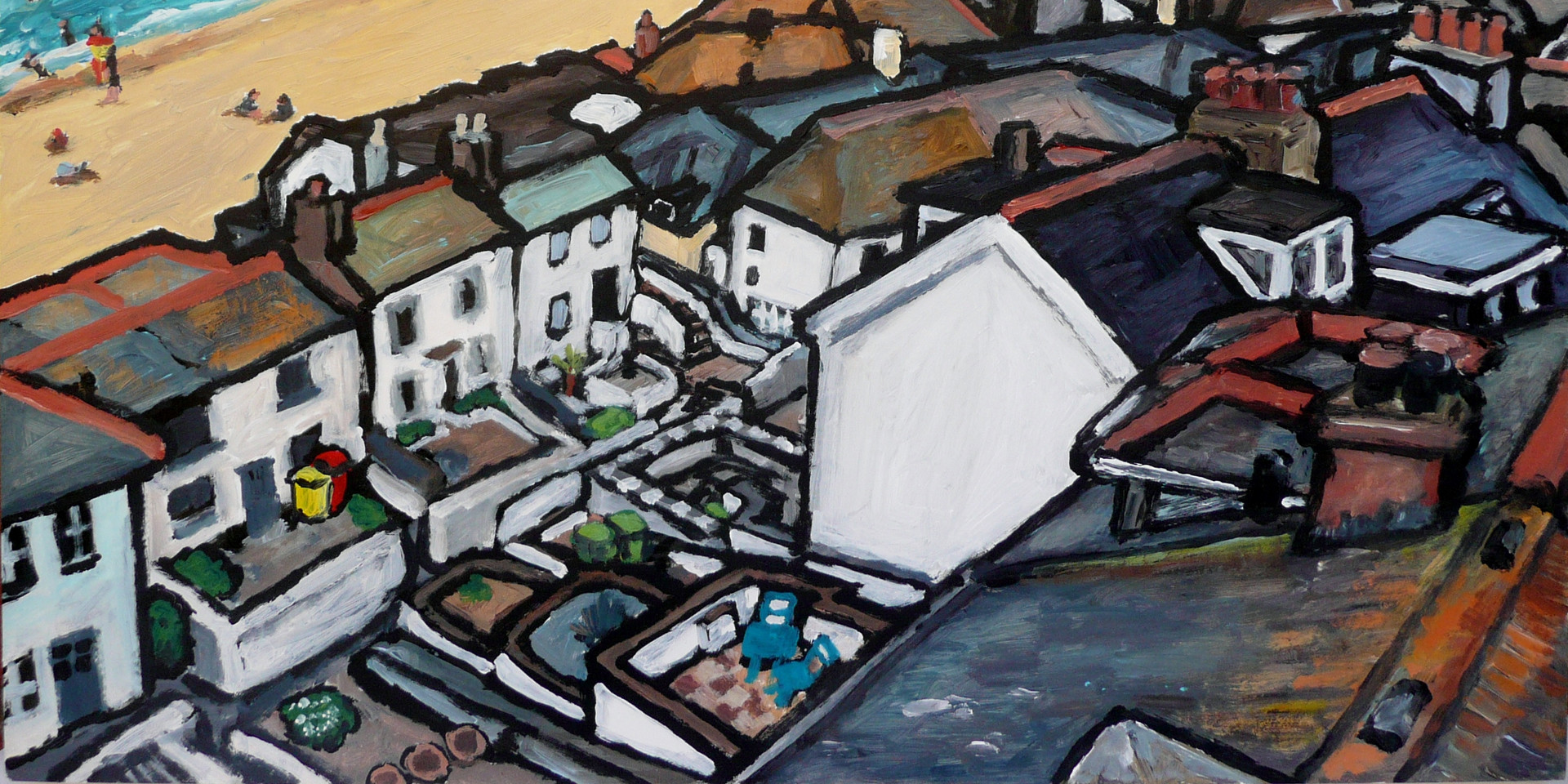 room with a view - size 11 x 14 inch.