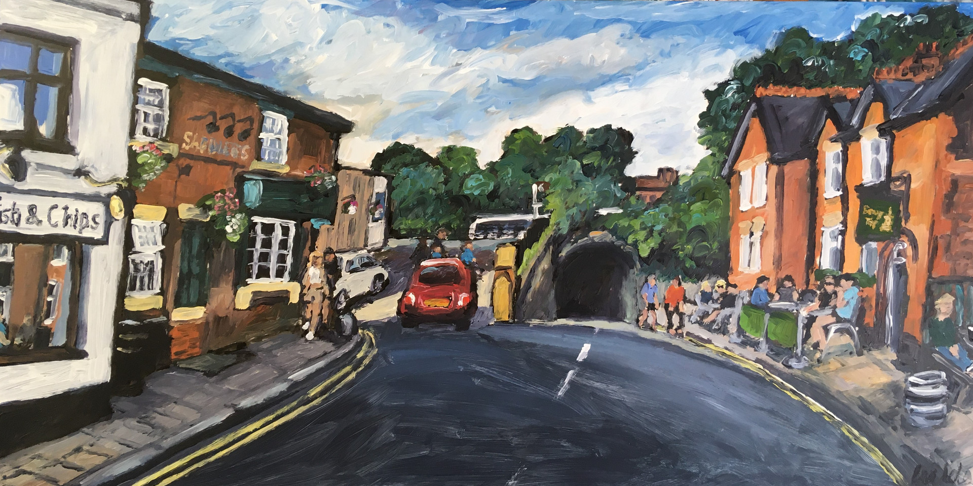 Towards the canal 10 x 20 inch