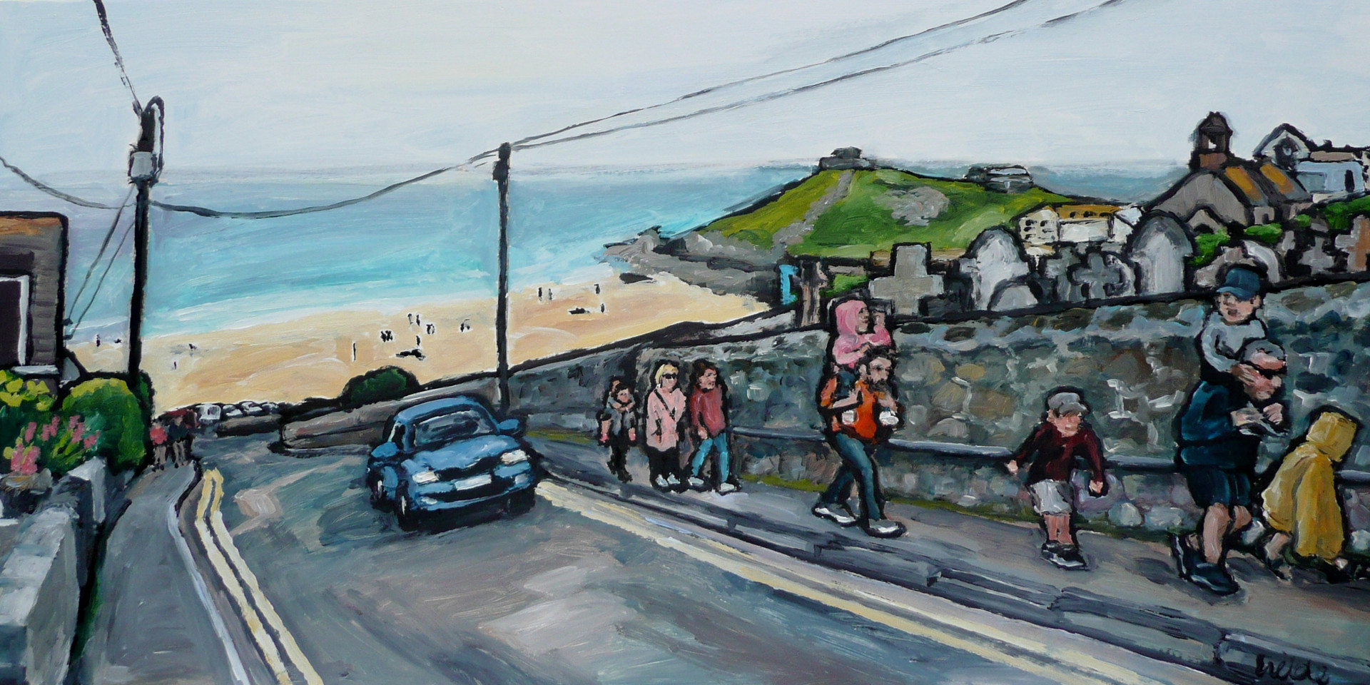 Back from the beach - 10 x 20 inch