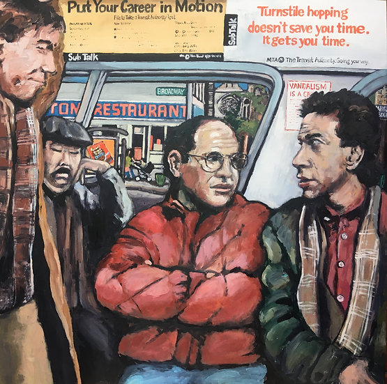 Original Seinfeld painting with three Seinfeld prints