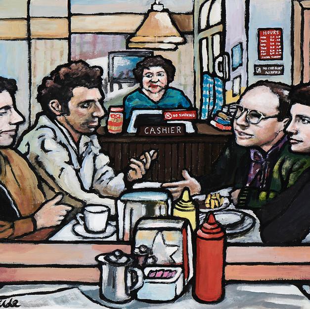 Seinfeld monks diner