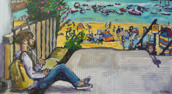 sounds of St Ives - 36 x 46 cm.