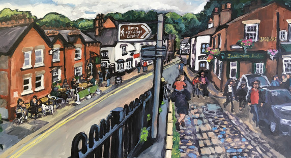 Away from the canal 10 x 20 inch