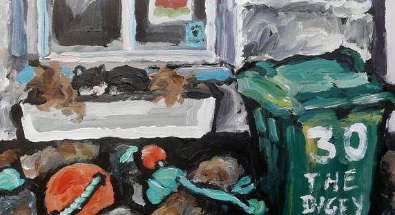 "Cornish cat 10 x 8 """