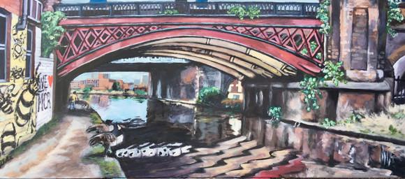 Castlefield Bridge Water