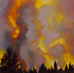 Purple Forest Fire