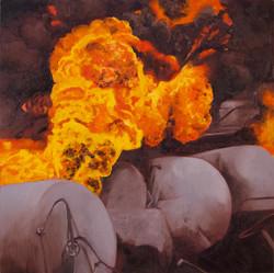 Oil Cars Exploding