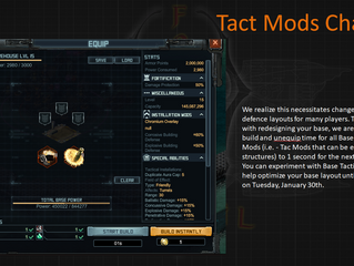 Change to Tact Mods in the Base