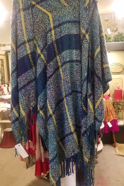 Blue/Green hooded Cape