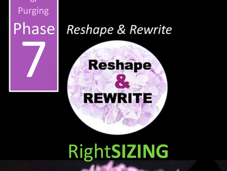 Purging Phase 7:  The Do-Over.  Reshape & Rewrite.