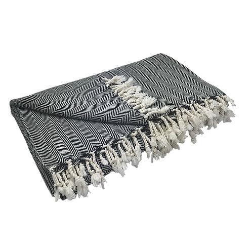 Herringbone Turkish Throw Blanket