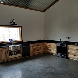 Absolute Black Granite on Hickory Cabinets