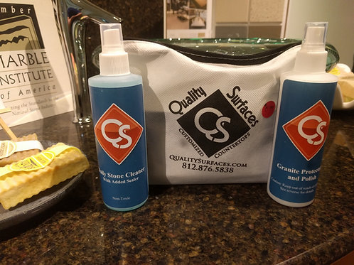Quality Surfaces Care Kit:  Clean, restore, polish